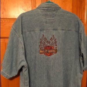 Harley Davidson Men's denim shirt